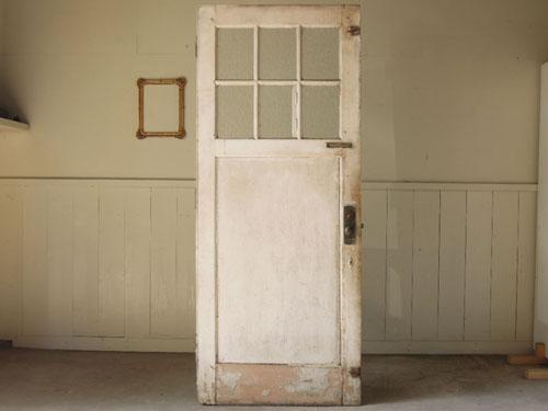 正面,アンティーク,ヴィンテージ,ドア,玄関ドア,白,ペイント,ガラス