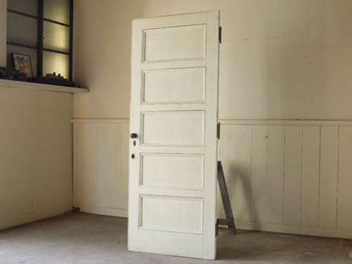 アンティーク,ヴィンテージ,建具,ドア,玄関ドア,白,ペイント,イギリス,オーク材