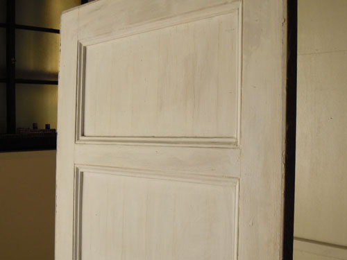 上部,アンティーク,ヴィンテージ,建具,ドア,玄関ドア,白,ペイント,イギリス,オーク材