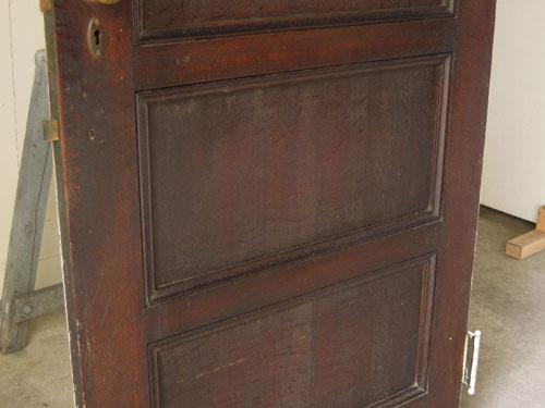 経年変化した風合いが良い雰囲気,アンティーク,ヴィンテージ,建具,ドア,玄関ドア,白,ペイント,イギリス,オーク材