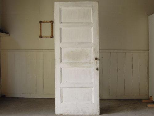正面,アンティーク,ヴィンテージ,建具,ドア,玄関ドア,白,ペイント,イギリス,オーク材