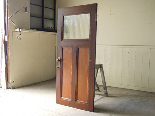 アンティーク,ヴィンテージ,建具,ドア,木製,玄関ドア,モールガラス
