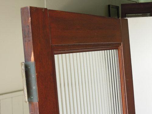 上部,アンティーク,ヴィンテージ,建具,ドア,木製,玄関ドア,モールガラス