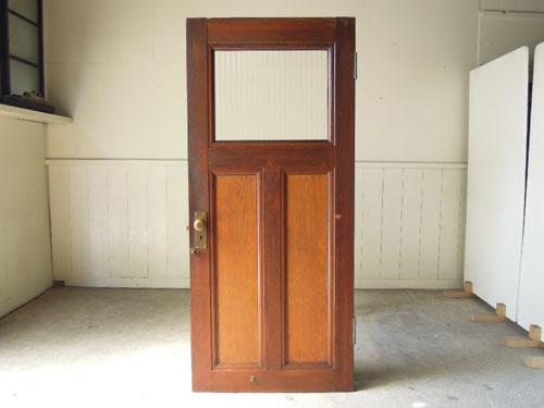正面,アンティーク,ヴィンテージ,建具,ドア,木製,玄関ドア,モールガラス