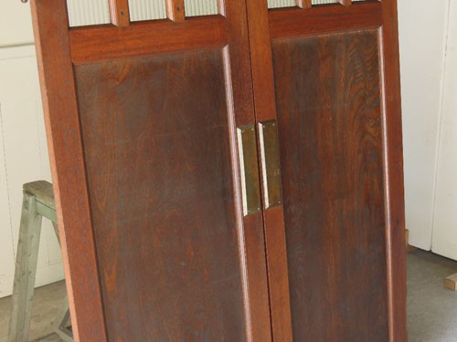 優雅な木目,アンティーク,ヴィンテージ,建具,木製,観音開き扉,両開き戸