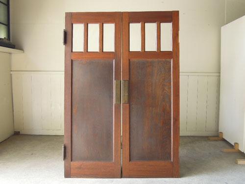 正面,アンティーク,ヴィンテージ,建具,木製,観音開き扉,両開き戸