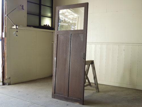 焦げ茶色側,アンティーク,ドア,木製,建具,ペイント,ブルーグレー,アトリエ,小屋