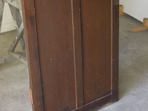 木部の風合い,アンティーク,ドア,木製,建具,ペイント,ブルーグレー,アトリエ,小屋