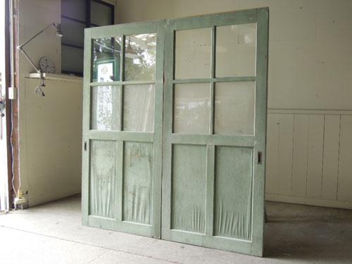 アンティーク,ドア,建具,引戸,ペイント,ペールグリーン,リノベーション,店舗,ガラス戸