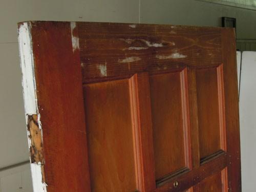 上部コンディション,アンティーク,ドア,建具,木製,ステンドグラス,格子,ペイント,白,リノベーション