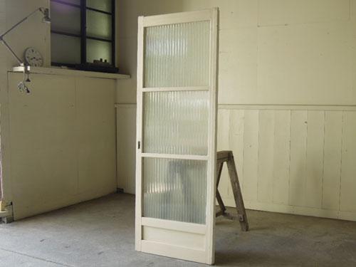 アンティーク,ドア,建具,木製,ペイント,白,リノベーション,ガラス戸,モールガラス