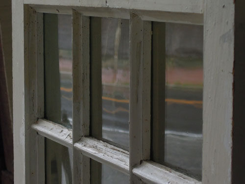 ガラスの風合い,アンティーク,窓,建具,木製,格子,ペイント,白,リノベーション