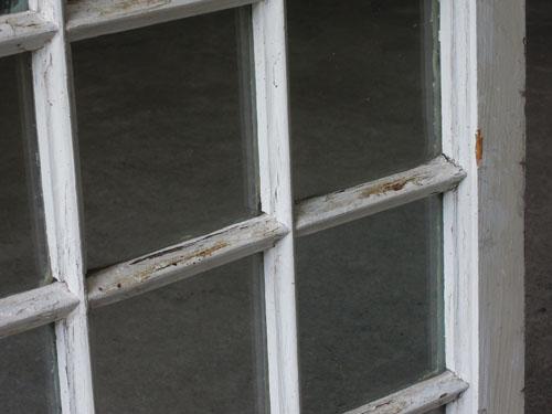 コンディション,アンティーク,窓,建具,木製,格子,ペイント,白,リノベーション