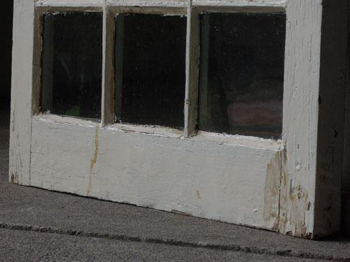 下部,アンティーク,窓,建具,木製,格子,ペイント,白,リノベーション