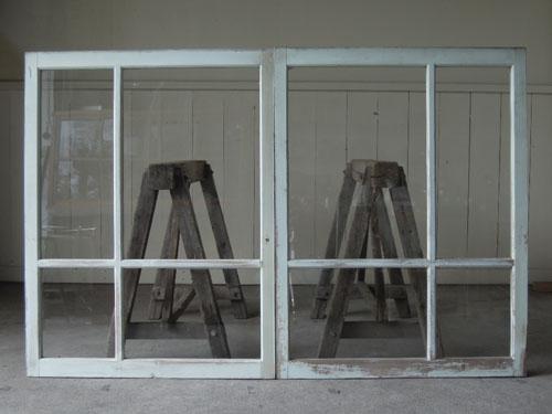裏側正面,アンティーク,窓,引き違い戸,ペイント,ブルーグレー,建具,ガラス戸,リノベーション,店舗