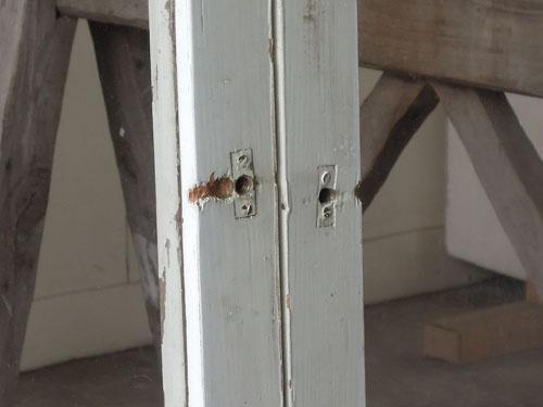 鍵はなし,アンティーク,引き違い戸,ガラス戸,引戸,建具,ペイント,リノベーション,店舗,間仕切り