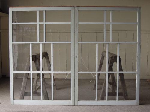 裏側,アンティーク,引き違い戸,ガラス戸,引戸,建具,ペイント,リノベーション,店舗,間仕切り