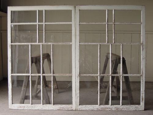 正面,アンティーク,引き違い戸,ガラス戸,引戸,建具,ペイント,リノベーション,店舗,間仕切り
