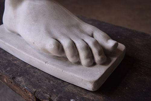 指,アンティーク,石膏,デザイン,足,ディスプレイ,モニュメント,ドアストッパー,ショップ