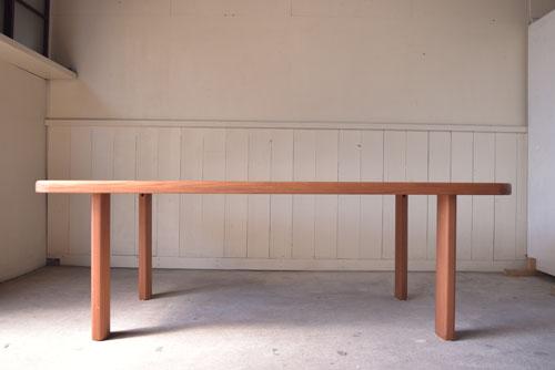 アンティーク,ヴィンテージ,北欧家具,デンマーク,チーク材,ダイニングテーブル,正面