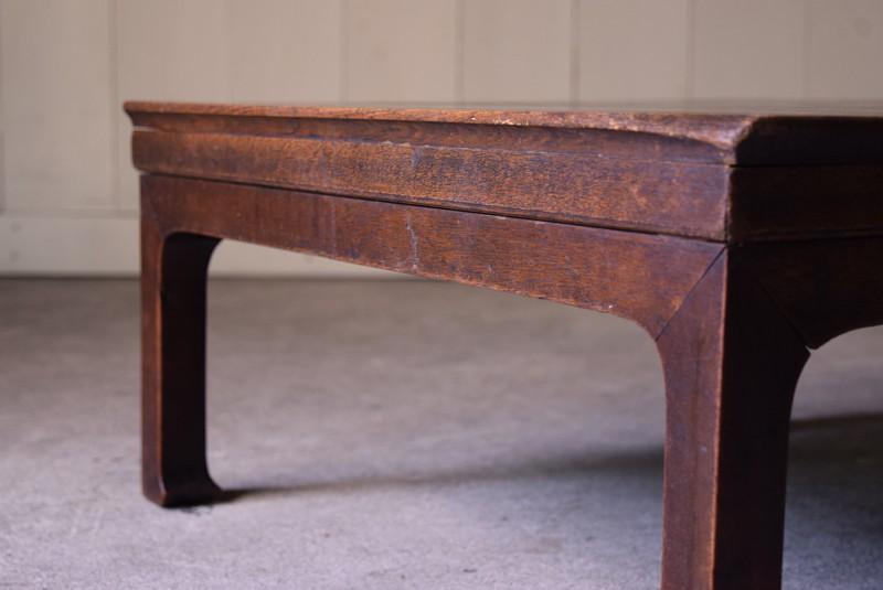 アンティーク,時代,座卓,テーブル,ローテーブル,日本,杉材,側面,コンディション