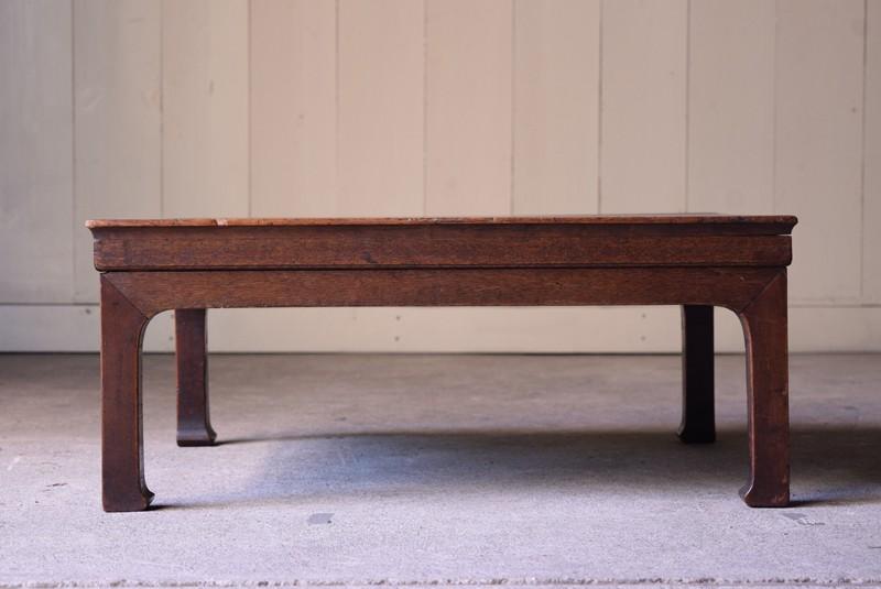 アンティーク,時代,座卓,テーブル,ローテーブル,日本,杉材,正面
