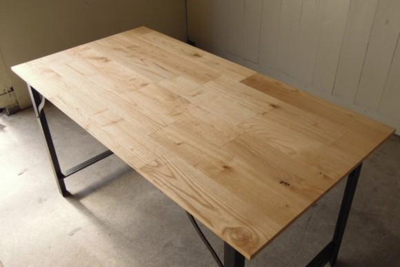 天板,無垢材,栗無垢材,経年変化,オイル仕上げ,インダストリアルテーブル,サイズオーダー,鉄脚テーブル,天板無垢,アイアンフレーム,ダイニングテーブル,作業台,ワークデスク