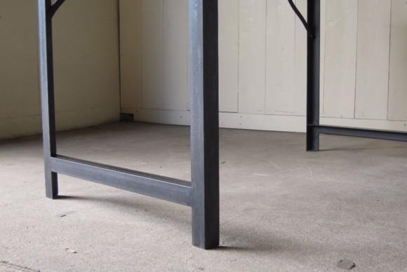 アングルフレーム,テーブル脚,レッグ,手づくり,インダストリアルテーブル,サイズオーダー,鉄脚テーブル,天板無垢,アイアンフレーム,ダイニングテーブル,作業台,ワークデスク