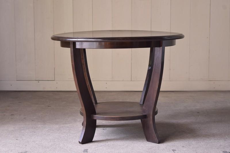 曲線を活かしたデザイン,アンティーク,ヴィンテージ,センターテーブル,カフェテーブル,飾り台,イギリス,桜材,ショップ