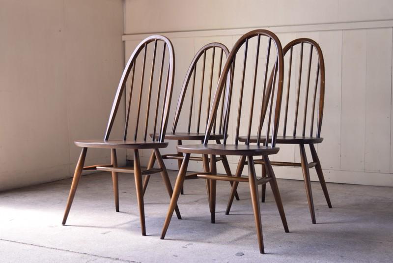 ヴィンテージ,アンティーク,アーコール,ERCOL,椅子,チェア,クエーカーチェア,ウィンザーチェア,イギリス,セット
