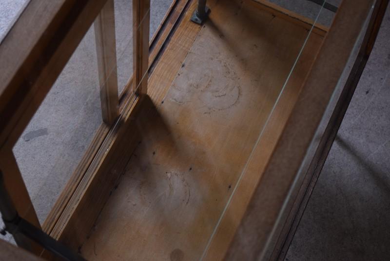 底板に少々傷みあり,アンティーク,ガラスケース,ショーケース,パンケース,什器,陳列,ショップ