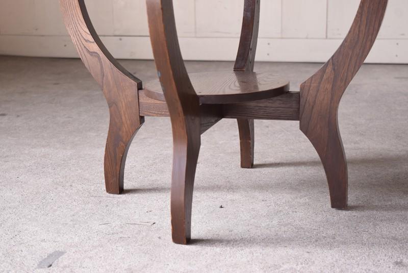 アンティーク,ヴィンテージ,テーブル,ラウンドテーブル,カフェテーブル,曲線,脚