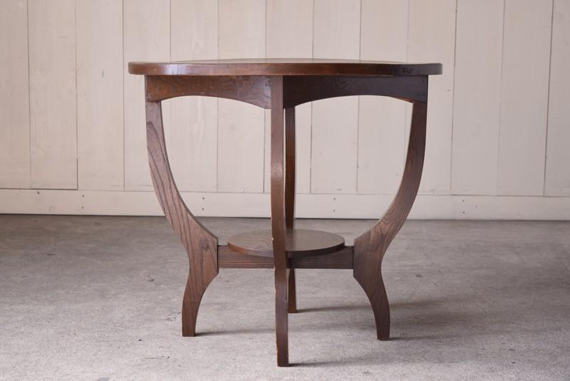 アンティーク,ヴィンテージ,テーブル,ラウンドテーブル,カフェテーブル,正面