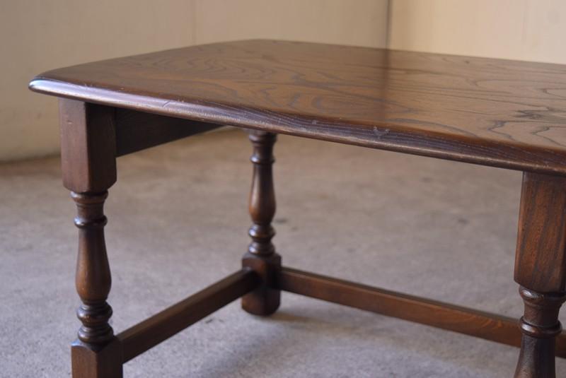 アンティーク,ERCOL,アーコール,テーブル,センターテーブル,コロニアル様式,イギリス,天板厚
