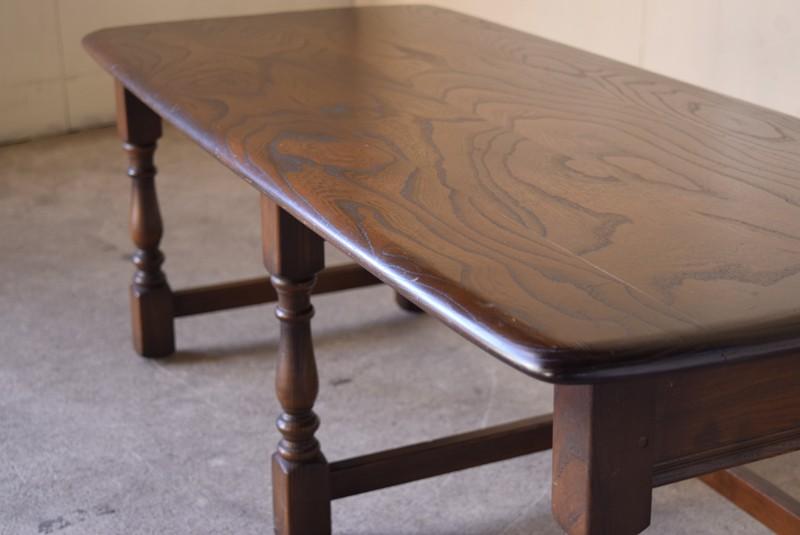 アンティーク,ERCOL,アーコール,テーブル,センターテーブル,コロニアル様式,イギリス,きれいな天板