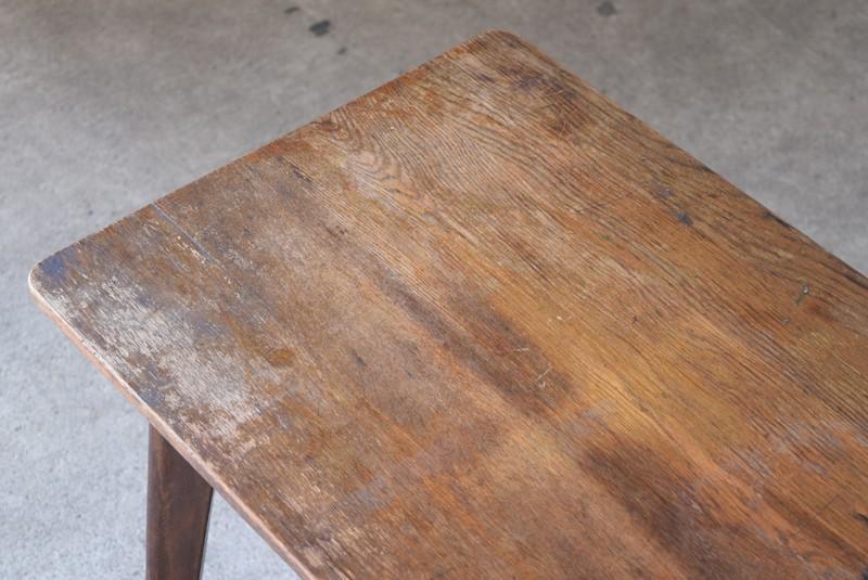 アンティーク,ヴィンテージ,テーブル,センターテーブル,ナラ材,楢材,カフェ,天板,味