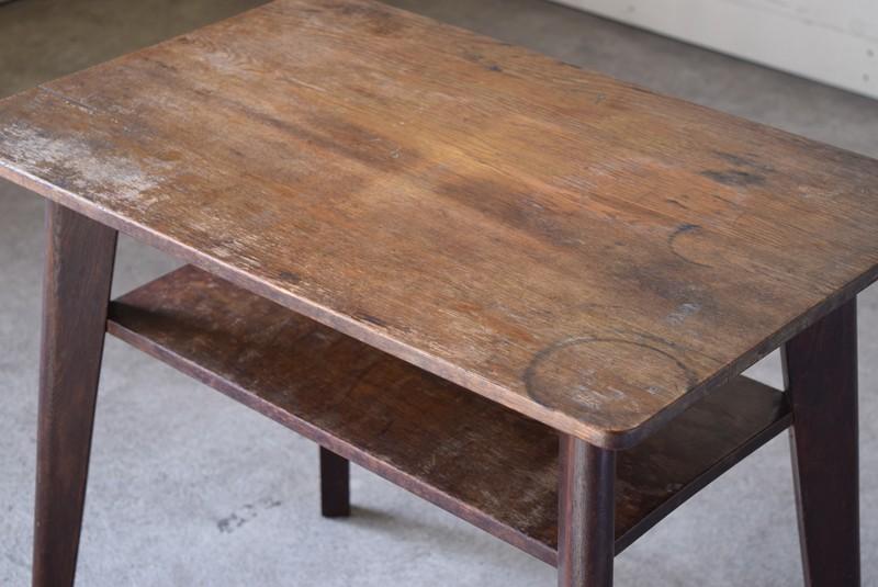アンティーク,ヴィンテージ,テーブル,センターテーブル,ナラ材,楢材,カフェ,天板コンディション