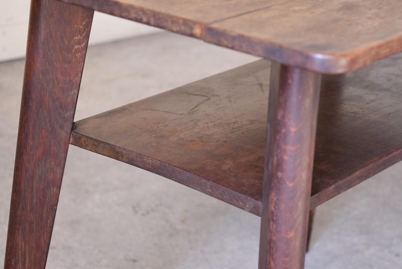 アンティーク,ヴィンテージ,テーブル,センターテーブル,ナラ材,楢材,カフェ,ラック