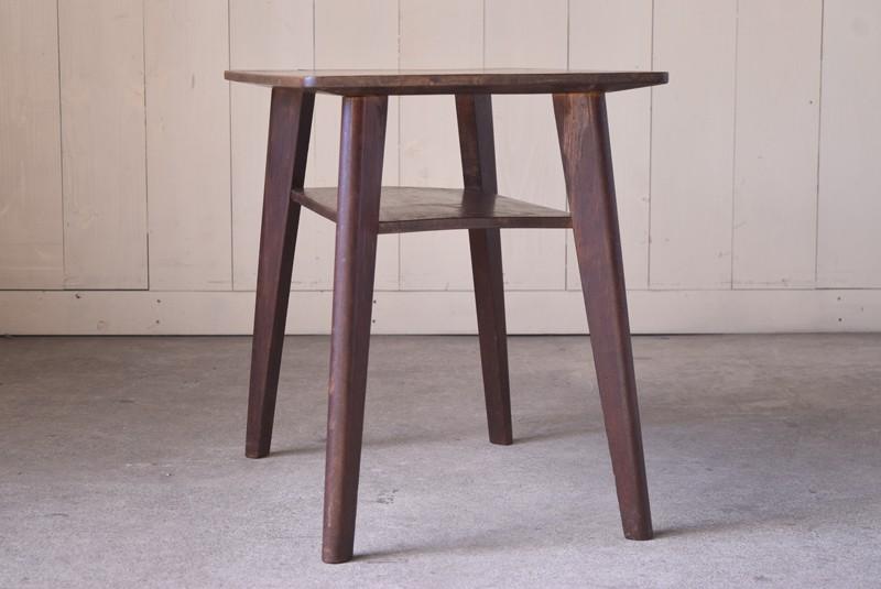 アンティーク,ヴィンテージ,テーブル,センターテーブル,ナラ材,楢材,カフェ,側面,サイド
