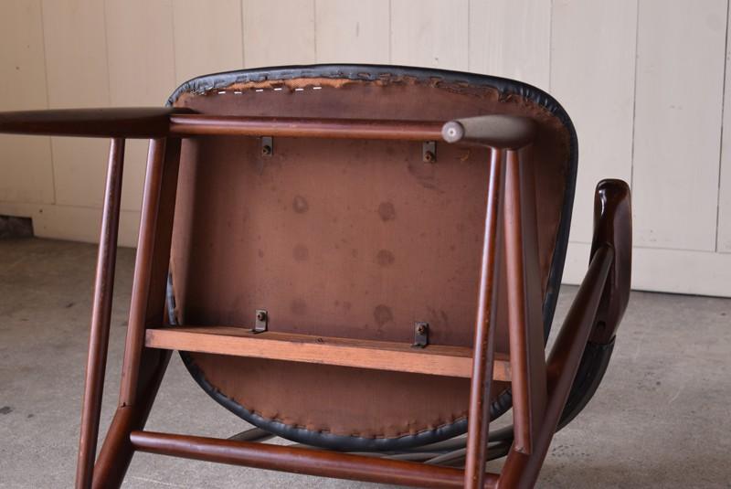 裏,ヴィンテージ,アンティーク,アームチェア,イージーチェア,椅子,チェア,ブナ材,楢材