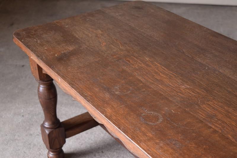 輪ジミも見られます,アンティーク,ヴィンテージ,センターテーブル,ローテーブル,ナラ材無垢,楢材,天板のコンディション
