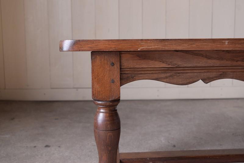 無垢材,アンティーク,ヴィンテージ,センターテーブル,ローテーブル,ナラ材無垢,楢材,天板厚