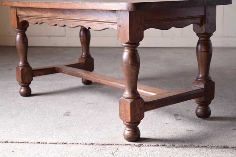 脚元,アンティーク,ヴィンテージ,センターテーブル,ローテーブル,ナラ材無垢,楢材,脚のデザイン