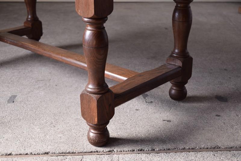 脚元,アンティーク,ヴィンテージ,センターテーブル,ローテーブル,ナラ材無垢,楢材,脚元