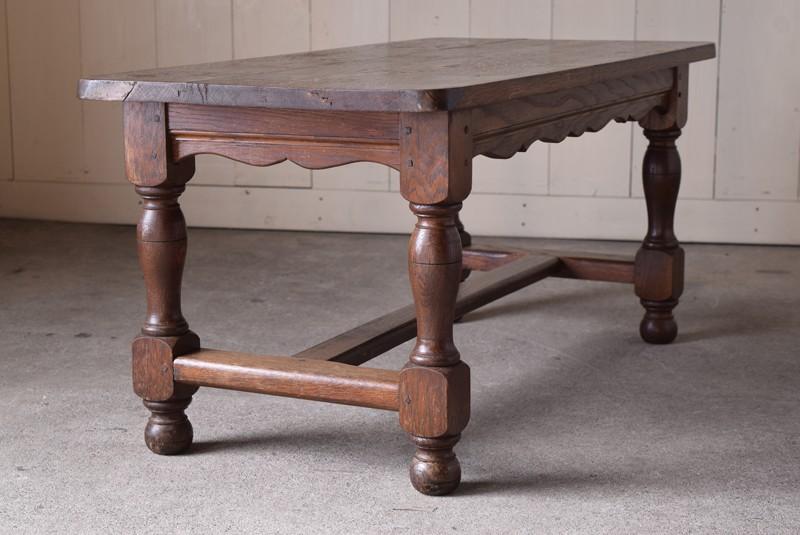 側面,アンティーク,ヴィンテージ,センターテーブル,ローテーブル,ナラ材無垢,楢材,側面