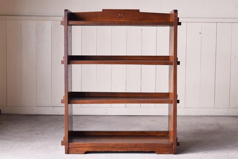 象嵌とクサビがポイントの本棚,アンティーク,本棚,オープンラック,収納,陳列,ショップ