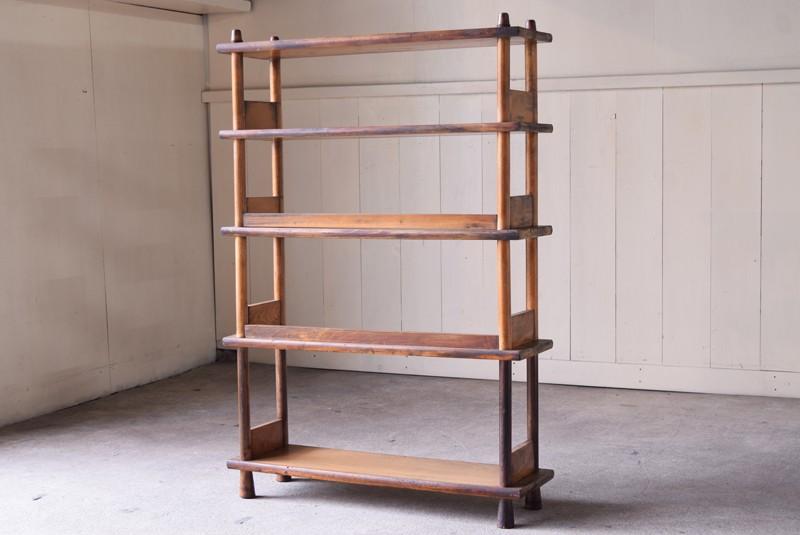 空間の中央に配置しても,アンティーク,本棚,オープンラック,収納,陳列,什器,ショップ