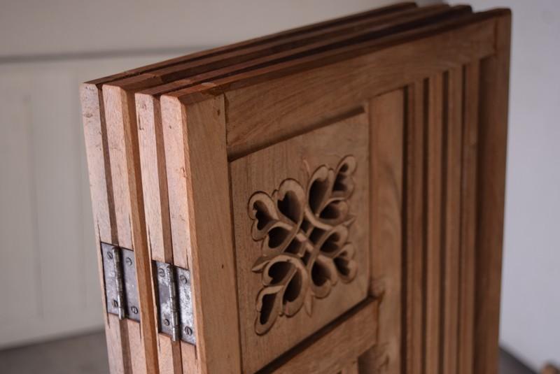 畳むとコンパクトな状態に,アンティーク,衝立,パーテーション,透かし彫り,格子,チーク,植物,ディスプレイ