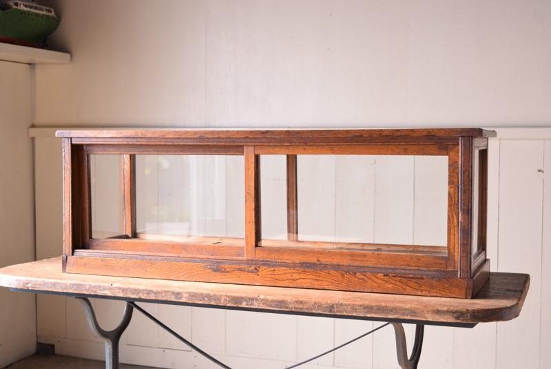 器などのディスプレイにも最適,アンティーク,陳列,ガラスケース,コレクションケース,木製,ショーケース,ディスプレイ,
