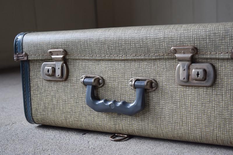 金具,鍵はなし,アンティーク,レトロ,トランク,旅行,衣装トランク,イギリス,収納,チェック柄